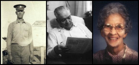 l-r: Albert GD Pankhurst (1885 – 1977), Ward D Pankhurst (1888 – 1978), and Greta Pankhurst (1895 – 1983)