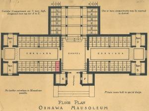 Floor Plan Oshawa Mausoleum